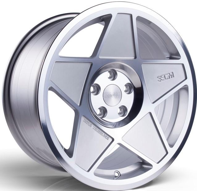 3SDM 0.05 hliníkové disky 9x16 4x108 ET20 Silver / Polished face