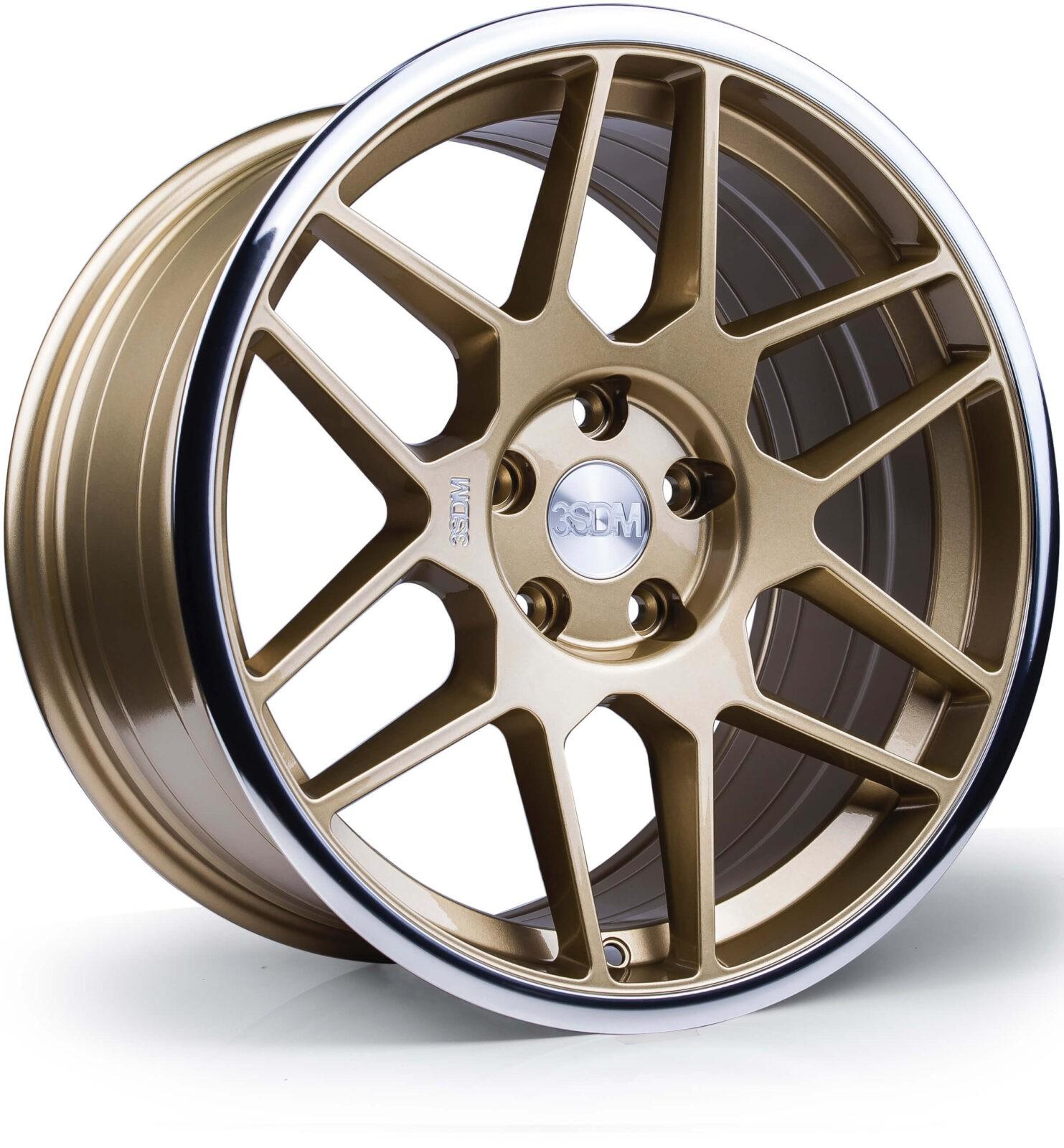 3SDM 0.09 hliníkové disky 8,5x18 5x112 ET42 Gold / mirror polished lip